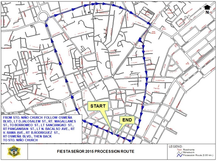 Traffic Re-Routing Plan For January 17, 2015 (Solemn Procession of the Miraculous Image of Señor Sto. Niño)
